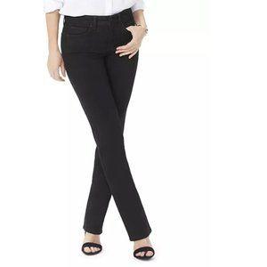 NYDJ   Marilyn Straight Leg Jeans Black